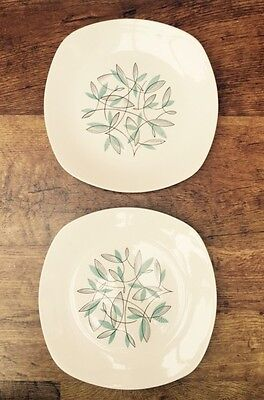 2 x MIDWINTER STYLECRAFT CASSANDRA DINNER PLATES  DESIGNED by Jessie Tait
