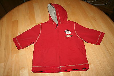 Red Boys Winter Coat with Fleece interior  Age 3 months