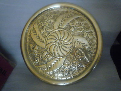 A Vintage Brass Tray 13 inches.  Very Ornate