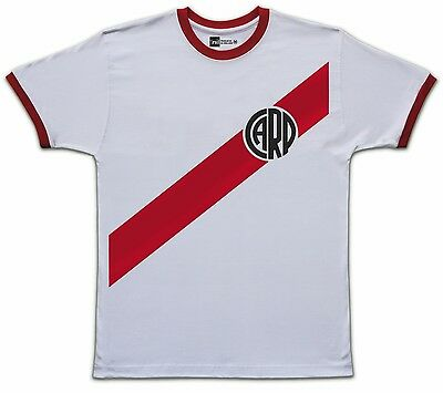 River Plate retro Ringer T-shirt size Medium