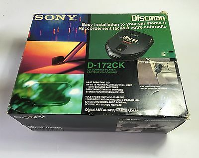 SONY Discman D-172CK CD COMPACT PLAYER - CAR READY Connecting pack - BOXED