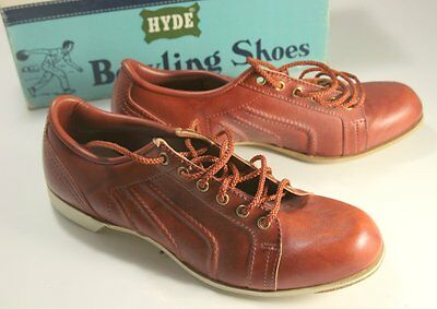 Vintage Hyde Bowling Shoes Size 8.5 US Reddish Brown Boxed New Old Stock Ladies?