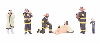 MTH 30-11060, O Gauge, 6-Piece Figure Set #7 - Fireman