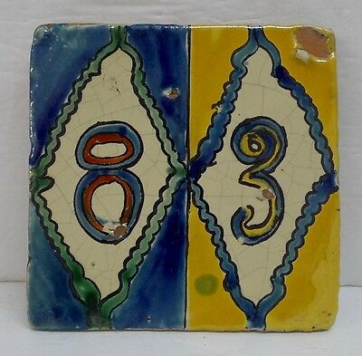 Mexican Vintage House Number Tile 83