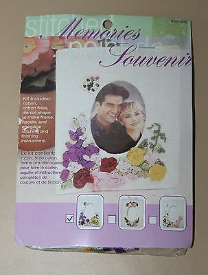 Ribbon rose embroidery kit - Photo frame