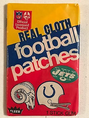 Fleer NFL Real Cloth Football Patches w/ Gum 1973 Vintage Sports Collectible