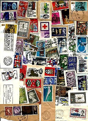 GB  About   100 used early QE 2   commemoratives on/off  paper  all different