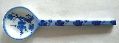 Chinese Blue & White Blossom Design Porcelain Spoon Collectable/Decorative