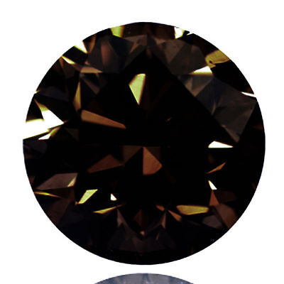 2.70 Ct   Loose Brown Diamond Round Brilliant Cut 9.21 mm (See Video)