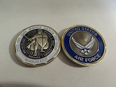 Challenge Coin United States Air Force Put On The Whole Armor Of God Ephesians