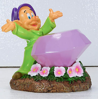 Disney Dopey Snow White Solar Garden Statue New With Tags