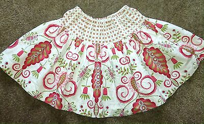 Girls Boutique Style Skirt Size 5 6 Floral Pink Green White Blue