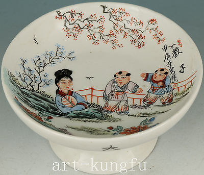 Old Jingdezhen Porcelain Collection Handmade Painting Belle Plate