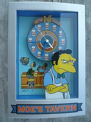 The Simpson's - Moe's Tavern - 'It's Duffs Time - Wall or Desk Clock (2003)