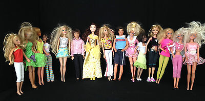 Lot of 15 Barbie & Other Dolls With Clothing & Accessories Some Vintage Lot #01