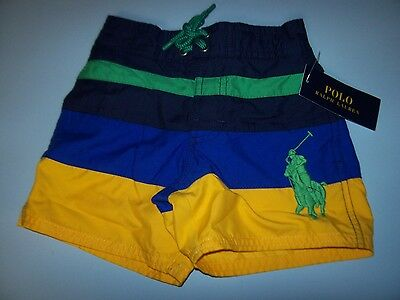 NEW Polo Ralph Lauren Big Pony board boys swim trunks shorts swimsuit 2T or 3T