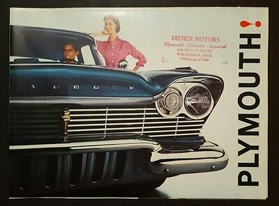 1960 Plymouth Car Dealership Sales Brochure Belvedere Savoy Plaza Suburban