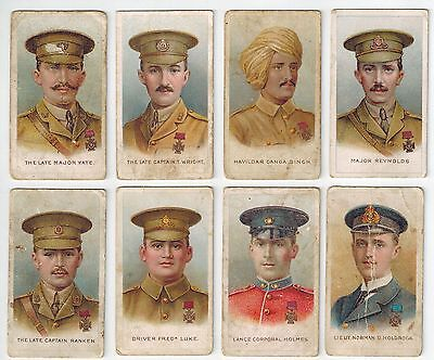 WD & HO Wills Cigarettes (1928-29) - Victoria Cross Heroes Cards (8) Lot 2