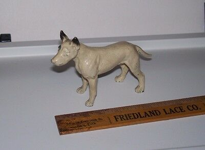 Amazing Vintage Lead Manchester? Bull? Terrier.. Very Nice Hand Painted?-1930's