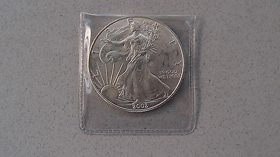 2002 Silver Eagle Dollar 1 Troy Ounce Silver Coin Walking Liberty No Reserve 5