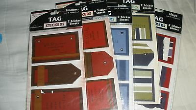 Lot/5 Pkgs Memories Complete TAG Stickers-Beauty/Joy/Hope/Smiles/Moments-MIOP