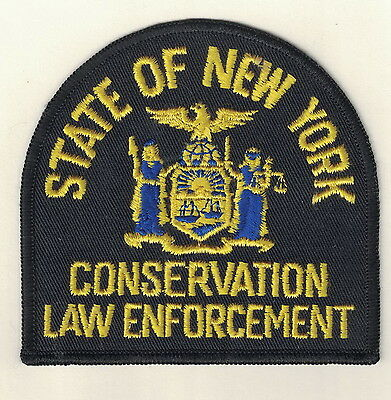 New York Conservation Law Enforcement patch game warden fish  police