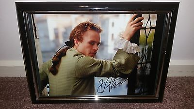 Hand Signed With Coa Rare Framed Heath Ledger - The Patriot Framed 8X10 Photo