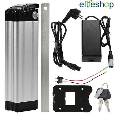 USB Fish 36V15.6Ah(577Wh) Lithium-ion E-Bike Battery Cycle Lockable Silver