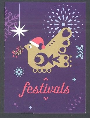 Singapore 2016 Festivals (Christmas) 1St Local Self Adhesive Stamps Booklet Mint