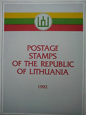 Lithuania Litauen Lituanie official full set postage stamps of 1992