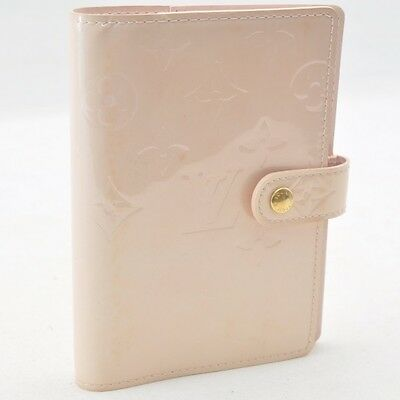 Authentic  Louis Vuitton Vernis Agenda PM Day Planner Cover Pink #S4950 E