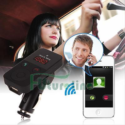 Wireless Bluetooth Car MP3 Player FM Transmitter Modulator USB SD LCD Charger UK