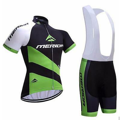 2017 Merida Bike Clothes Set Cycling Jersey Padded Bib Shorts Coolmax Kit S-5XL