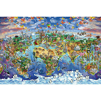 Maria Rabinky - World Wonders Map POSTER 61x91cm NEW * Countries Places Travel