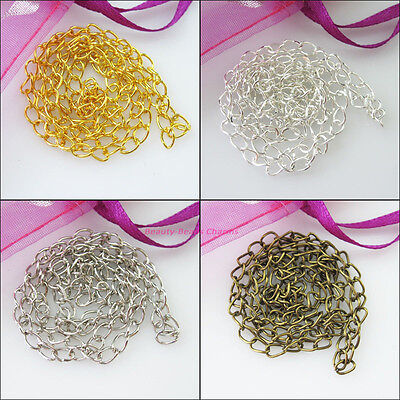 3Strands Necklaces 3.5mm Ring Chains Gold Dull Silver Bronze Plated 48cm