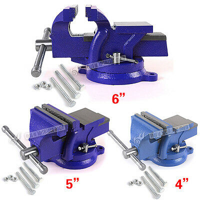 "4"" 5"" 6"" Heavy Duty Work Bench Vice Vise Workshop Clamp Engineer Jaw Swivel Base"