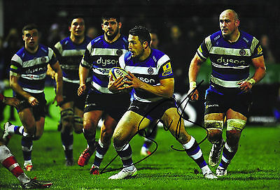 Sam Burgess Signed Photo 12X8 BATH RUGBY WITH PROOF AFTAL (2162)