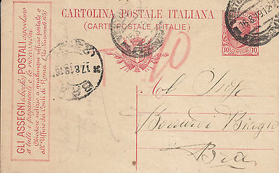 Italy - 1919  10c. Official Advertising postal stationery card