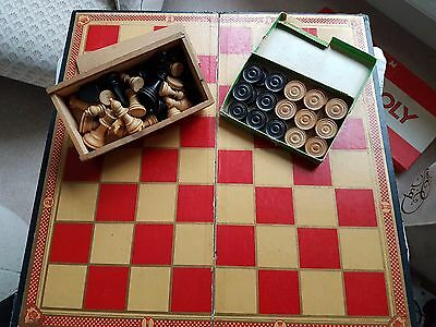 Chess & Draughts with board