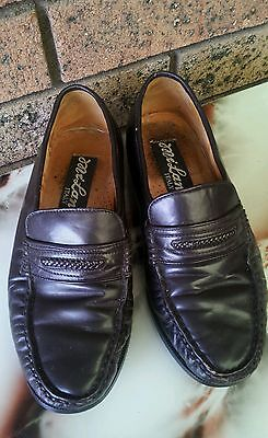 MILAN ITALY genuine ITALIAN LEATHER men formal dress shoes dark brown size 7