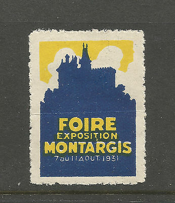 France/Montargis Fair 1931 poster stamp/label