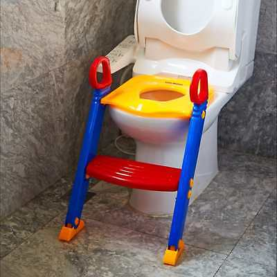 Padded Potty Seat with Step Stool Ladder for Child Toddler Toilet Chair, Red