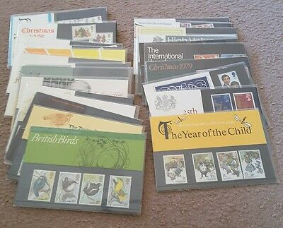 Bulk Lot Collection of 25 British UK Post Office Stamp Packs