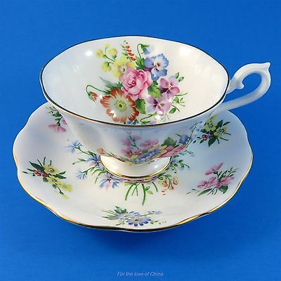 Royal Albert Bright Spring Floral Tea Cup and Saucer Set