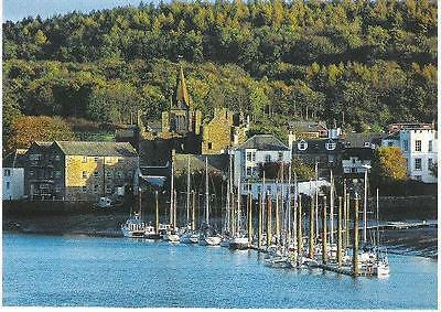 Kirkcudbright, Dumfries & Galloway - Harbour from Stell - postcard
