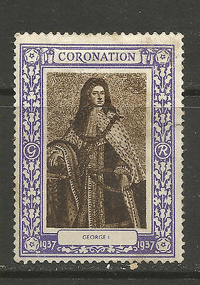 GB/UK 1937 KGVI Coronation  poster stamp/label (George I)