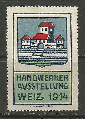Austria/Styria Weiz 1914 Craft Exhibition poster stamp/label