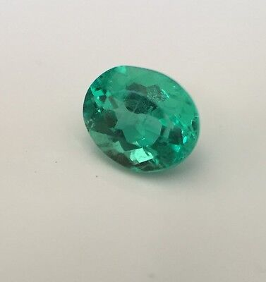 RRV: $3250NCJV- FGAA Natural colombian emerald  loose gemstone oval cut