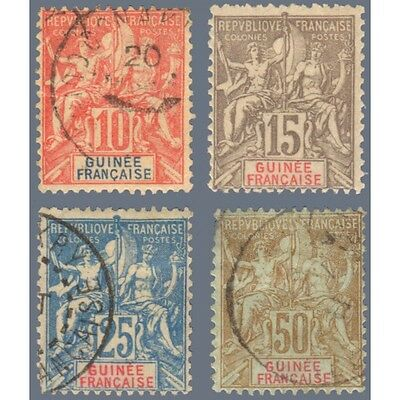 Guinee Serie N°14 A 17, Timbres Poste Obliteres, 1900