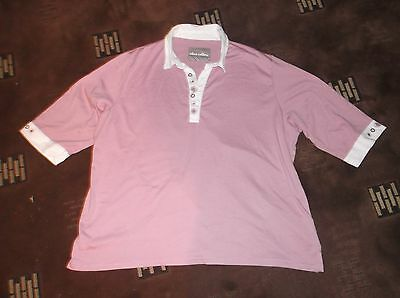 ladies lovely pink Alice Collins top, lovely condition, size 24